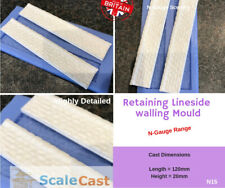 N-Gauge STONE WALL SECTIONS Mould for Model Railway scenery - N15 - N Scale