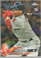 2018 Topps Chrome Rafael Devers #25 Boston Red Sox RC Rookie Card