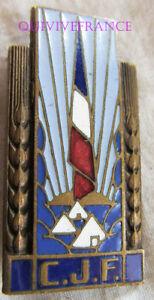 IN9862 - C.J.F, Insigne Général CHANTIERS , bronze, émail, embout