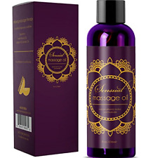 Sensual Massage Oil with Relaxing Lavender Almond Oil and Jojoba for Men and – -