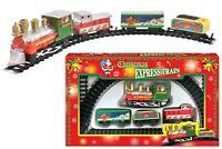 Christmas Toy Train Light Sound Express Holiday Festive Set Track Tree Santa