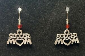 SOCCER MOM Wire Earrings Jewelry Set - Handmade USA - Fashion Dangle Style