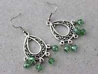 Earrings Dangle Tibetan Style Chandelier Glass Beads Womens Boho Jewellery New