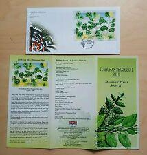 2004 Malaysia Medicinal Plants Series II Mini-Sheet Stamp FDC (Melaka cachet)