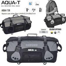 Oxford Universal Aqua-T 30L Waterproof Luggage Roll Bag Motorcycle Black/Grey