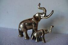Entzückende Elefantenkuh mit Baby aus Messing