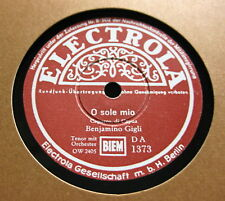 Benjamino Gigli - Fünf verschiedene 25cm Schellack Platten (K4)