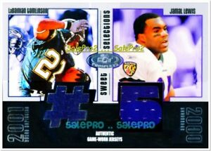 FLEER HOT PROSPECTS 2003 TOMLINSON / LEWIS RAENS CHARGERS DUAL GAME JERSEY /325