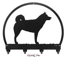 Norwegian Elkhound Dog Metal Key or Leash Hanger *NEW*