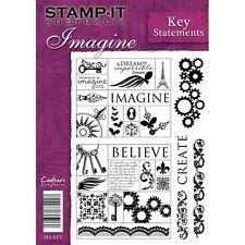 Crafters Companion Stamp-It Australie A5 timbres non montés clé déclarations imaginer