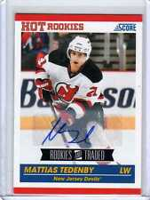 MATTIAS TEDENBY 10/11 Score Update Rookie Auto #613 SP Signed Hockey Card