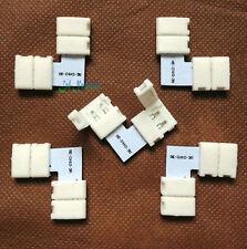 """5 PCS 2 PIN Connector """"L shape Clip 10 mm 5050 LED Strip single color Solderless"""