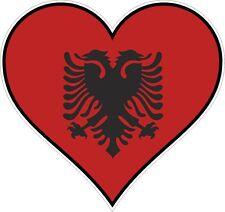 Albania corazón pegatina de vinilo de parachoques etiqueta Regalo Amor Bandera Bicicleta Moto Laptop Tablet