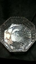 VINTAGE OFNAH LEADED CRYSTAL BOWL HAND CUT MADE IN POLAND IN MINT CONDITION