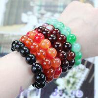 12mm  Agate Tibetan Buddhist  Prayer Beads  Stretch Bracelet