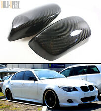 REAL CARBON FIBER SIDE MIRROR ADD-ON COVER PAIR FOR 2004-2008 BMW E60 530i 535