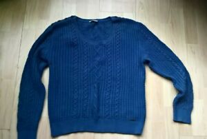 BARBOUR Ladies  Cotton Jumper In Cable knit Size 16
