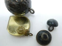 "ANTIQUE STEAM PUNK BLACK SHOE BUTTONS 5//16/"" Round Shanks Teddy Bear Eyes clips"