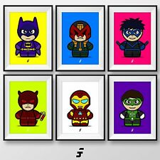 Marvel DC Comic Book Superhero Picture Poster Wall Art Gift A4 Print