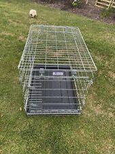 MTM Fold Flat Pet Crate Dog Cage Dual Door Metal British Made Medium Dog
