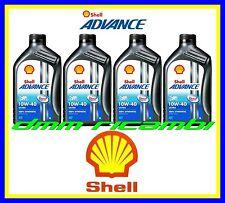 4 Litri Olio Motore 4 tempi SHELL ADVANCE ULTRA4 PUREPLUS 10W40 Sintetico SM MA2
