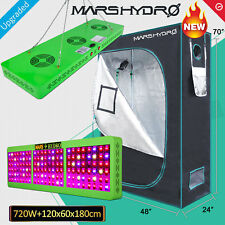 Mars 720W Led Grow Light IR Veg Flower Plant Lamp+4'×2'×6' Indoor Grow Tent Kit