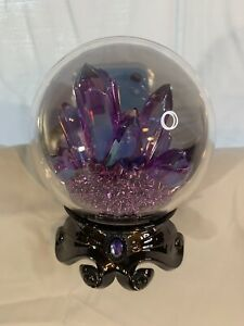 Bath & Body Works CRYSTAL BALL Halloween Wallflower Plug In Purple Nightlight