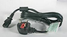 UK 220 VAC Right Angle Power Cord to standard C13 computer plug