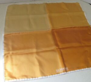 J.Z. Richards Yellow Color Block Silk Pocket Square Made in Italy Nordstrom 16.5