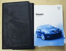 GENUINE MAZDA 3 HANDBOOK OWNERS MANUAL WALLET 2006–2009 PACK 15847