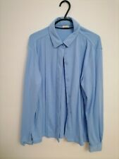 Blouse, Size 18, Damart, Blue, Buttoned, Long Sleeves, Barely Visibly Stained