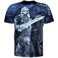 T-Shirt Valhalla Nordic Horn Drakar Viking Warrior Odin Thor Wikinger Vikings