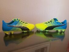 Puma evoPower 1.3 FG Saftey Yellow black atomic Blue 103524 01 size 8
