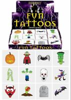 12 Halloween Temporary Tattoos - Pinata Toy Loot/Party Bag Fillers Childrens