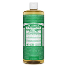 Dr Bronners Castile Liquid Soap Natural Organic Vegan Eco 946ml All Flavours