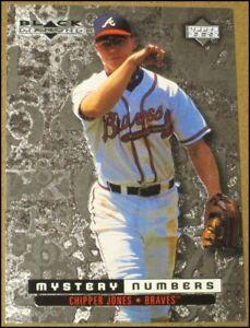 1999 Black Diamond Mystery Numbers Chipper Jones Card #M6 Atlanta Braves 230/600