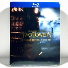 The Lord of the Rings: The Two Towers (5-Disc Blu-ray, 2012, Extended Ed.) New !