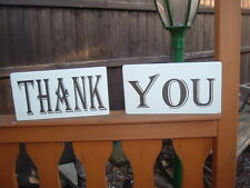 shabby and chic wedding vintage thank you signs photo props