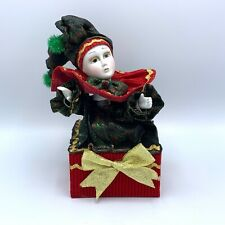 Beautiful Animated Clown in a Music Box Works A7-002