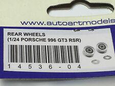 AutoArt Rear Wheels Slotcar Ersatzteil 4536 1/24 Carrera Porsche 911 996 GT3 RSR