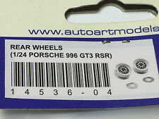 AUTOart rear wheels slotcars pièce de rechange 4536 1/24 Carrera porsche 911 996 gt3 rsr