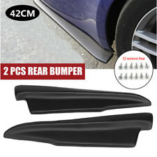 2 Pcs 42cm Car Rear Bumper Moulding Skirt Winglet Anti-crash Splitters Diffuser