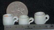 Dollhouse Miniature 1 Wood Fired Cup Mug Meiklejohn White Grey 1:12 Kitchen 8571