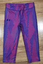 UNDER ARMOUR Capri Leggings YLG Fitted Red White And Blue NEW!!