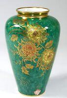 ALKA KUNST BAVARIA - BAUCHVASE Vase Blumenvase - PATRICIA - Grün Gold Blumen