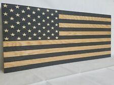 "Large 42"" American Flag Rustic Concealment Cabinet Furniture Secret Gun Storage"