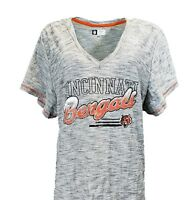 Cincinnati Bengals NFL Team Apparel Gray T-Shirt, Women's Plus Size, nwt