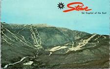 Stowe VT Mount Mansfield Ski Area Postcard used 1975