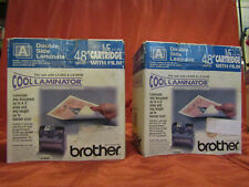 "2- Genuine Brother LC-A5 Cool Laminator 9"" Cartridge/Film Adhesive Back Laminate"