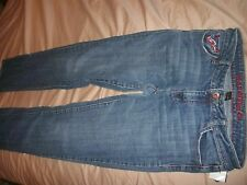 G Unit Clothing Co. Womens Straight Leg Size 7 Jeans Red Jeweled Button (B58)